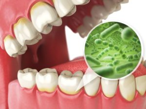 mouth open image of bacteria microbes